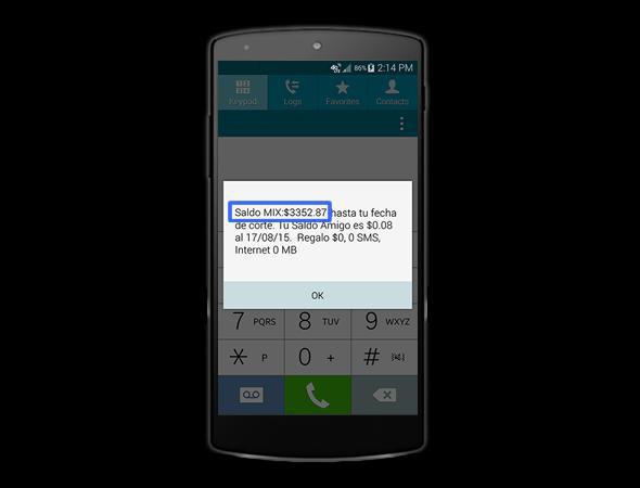 recargar saldo por mensaje de texto