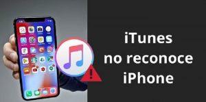 Itunes no me reconoce el iphone
